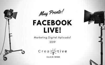 Muy pronto Facebook Live!!!